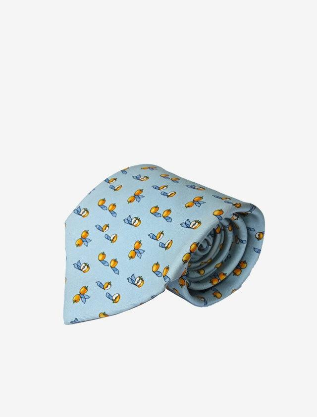 SALVATORE FERRAGAMO TIE サルバトーレ フェラガモ シルク ネクタイ 水色