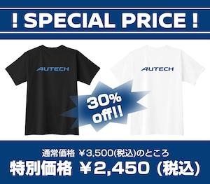 【SALE】AUTECH ロゴ入り Tシャツ (ブラック / ホワイト)