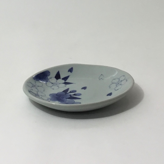 手捻り皿 桜