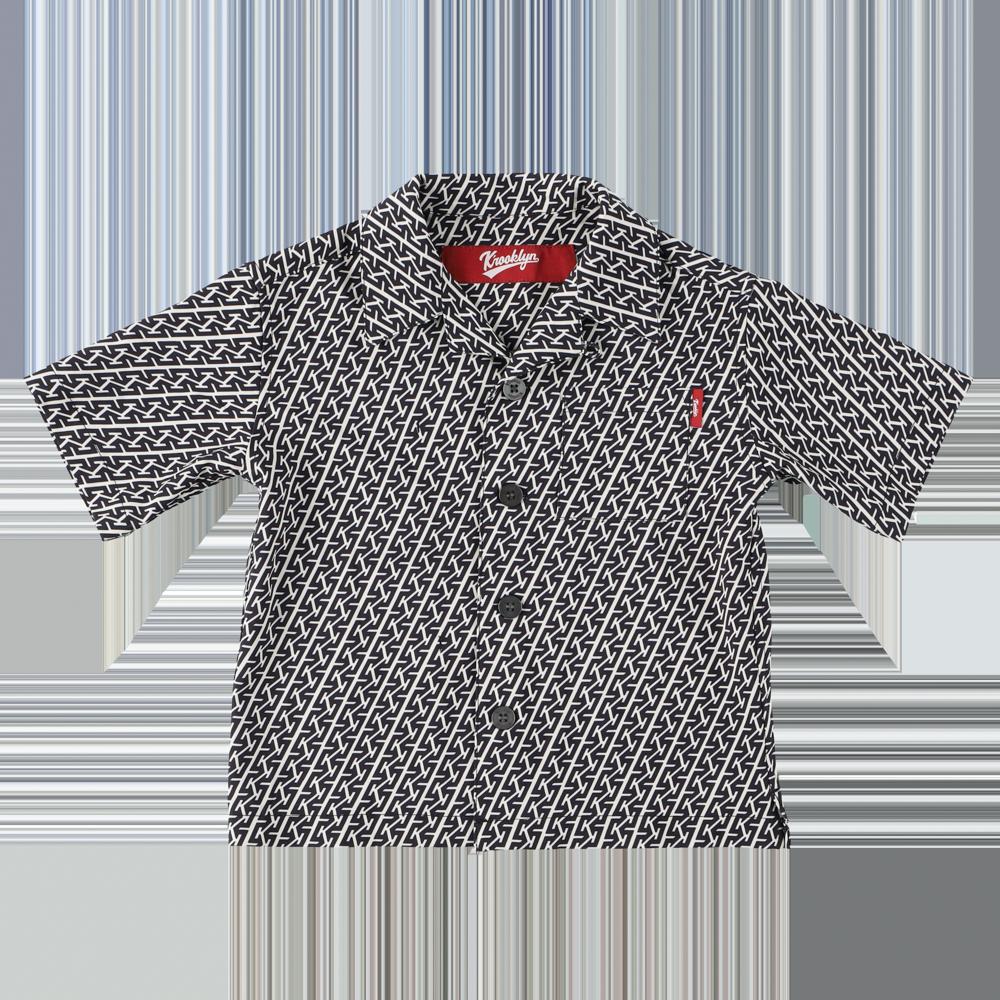 K'rooklyn Exclusive Kids Shirts -Black & White-(110cm)