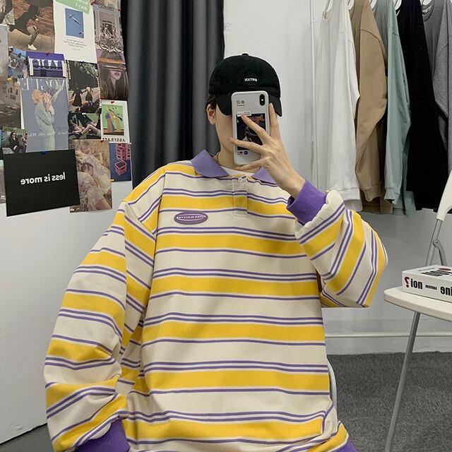 コントラストカラーポロシャツ YH4729
