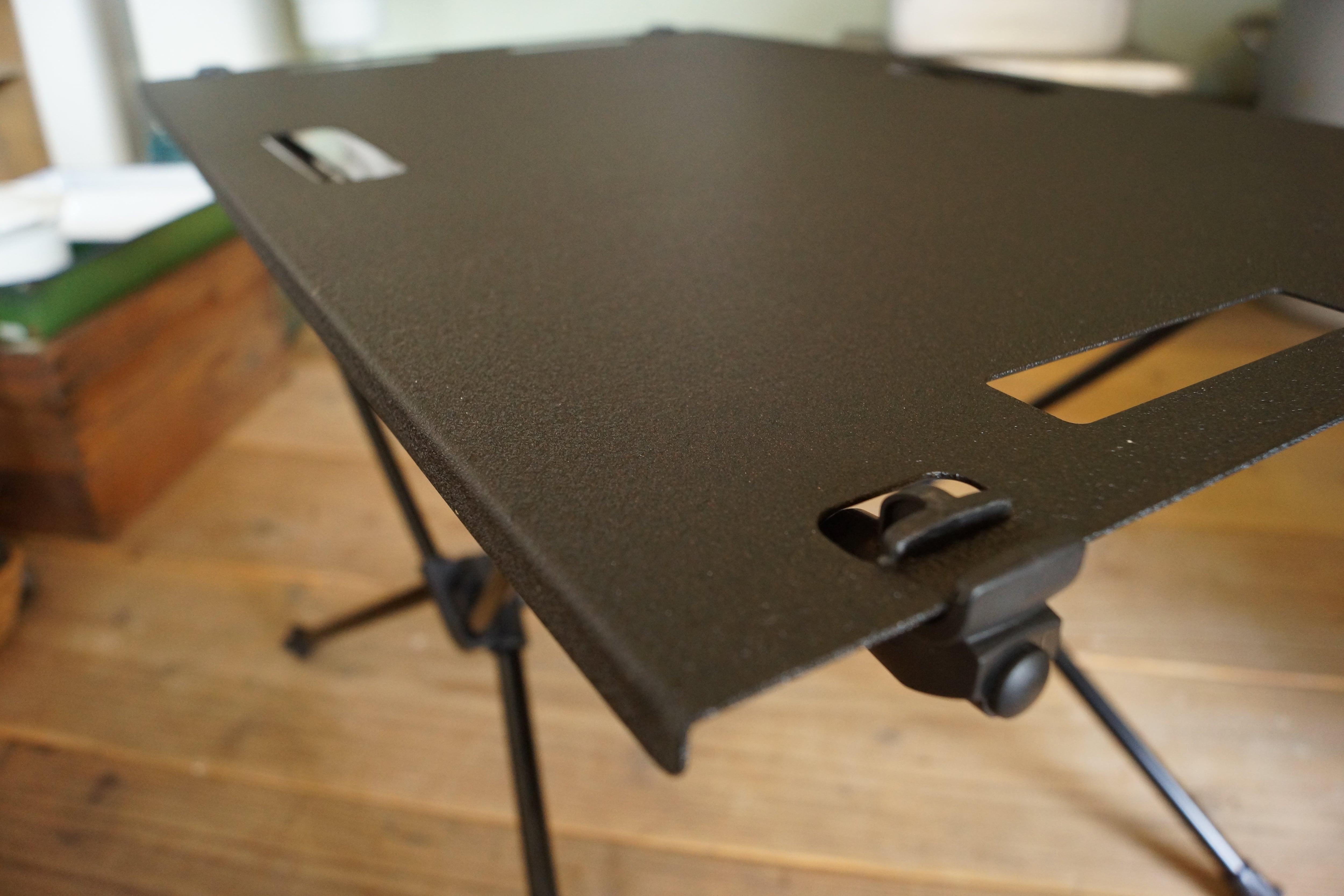 「オフシャル限定品」Helinox Home(ヘリノックス)テーブルMワン用 テクスチャブラック天板。