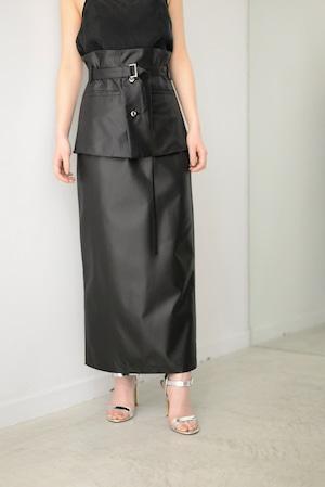 ROOM211 / Belt Skirt (black)