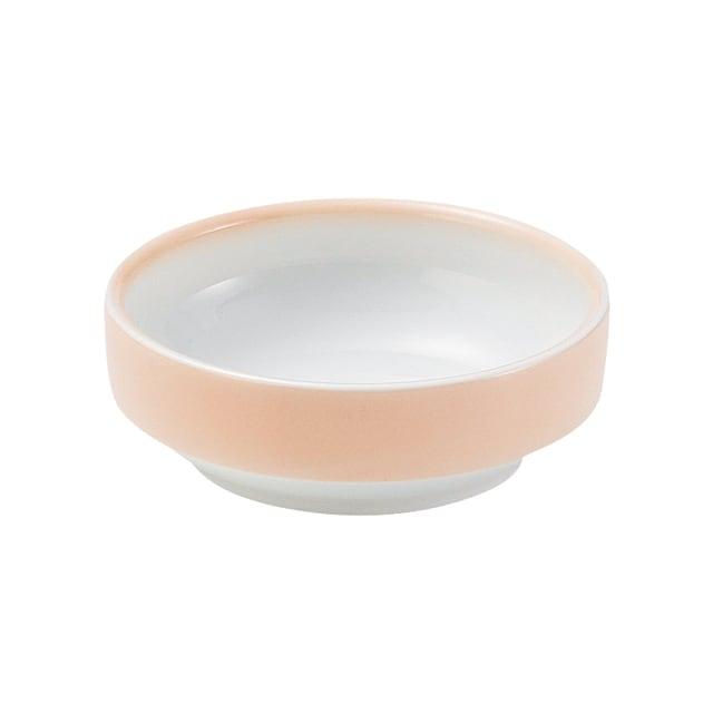 強化磁器 12.5cm すくいやすい食器 ぼかしオレンジ【1713-2740】