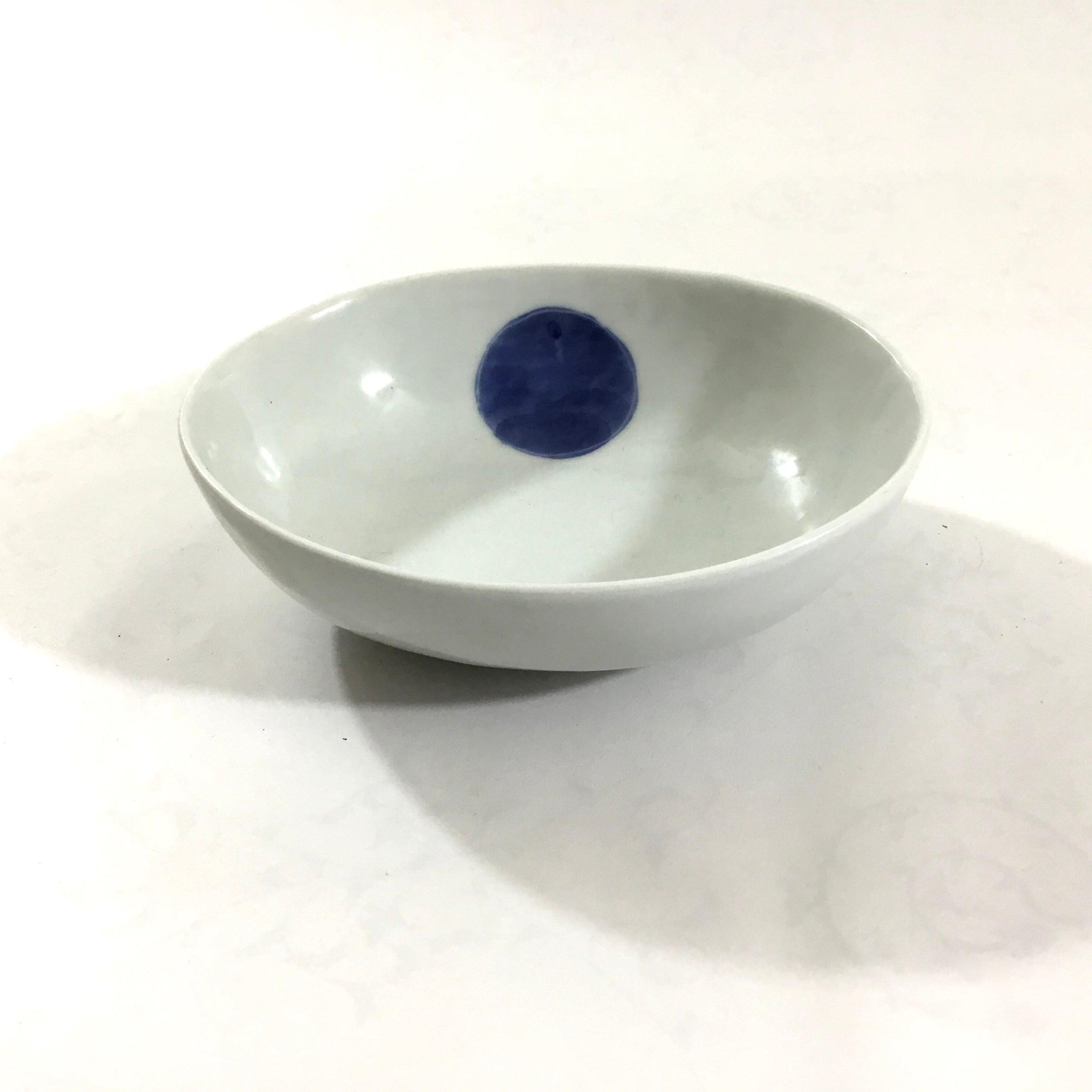 まる丸紋楕円小鉢