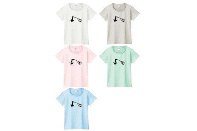 マンドリンと黒猫のTシャツ