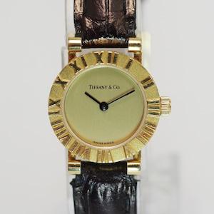 TIFFANY & CO. ティファニー S0630 アトラス クォーツ イエローゴールド K18 腕時計 レディース