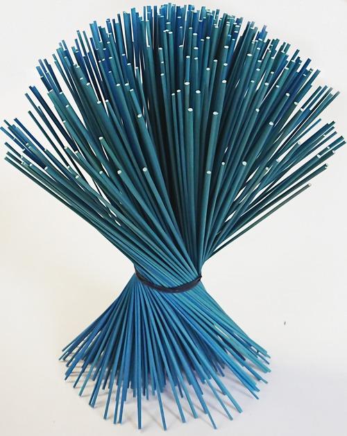 【イ草フラワー ミニ ライトブルー】Rush Grass Flower Mini Light Blue 17.5cm