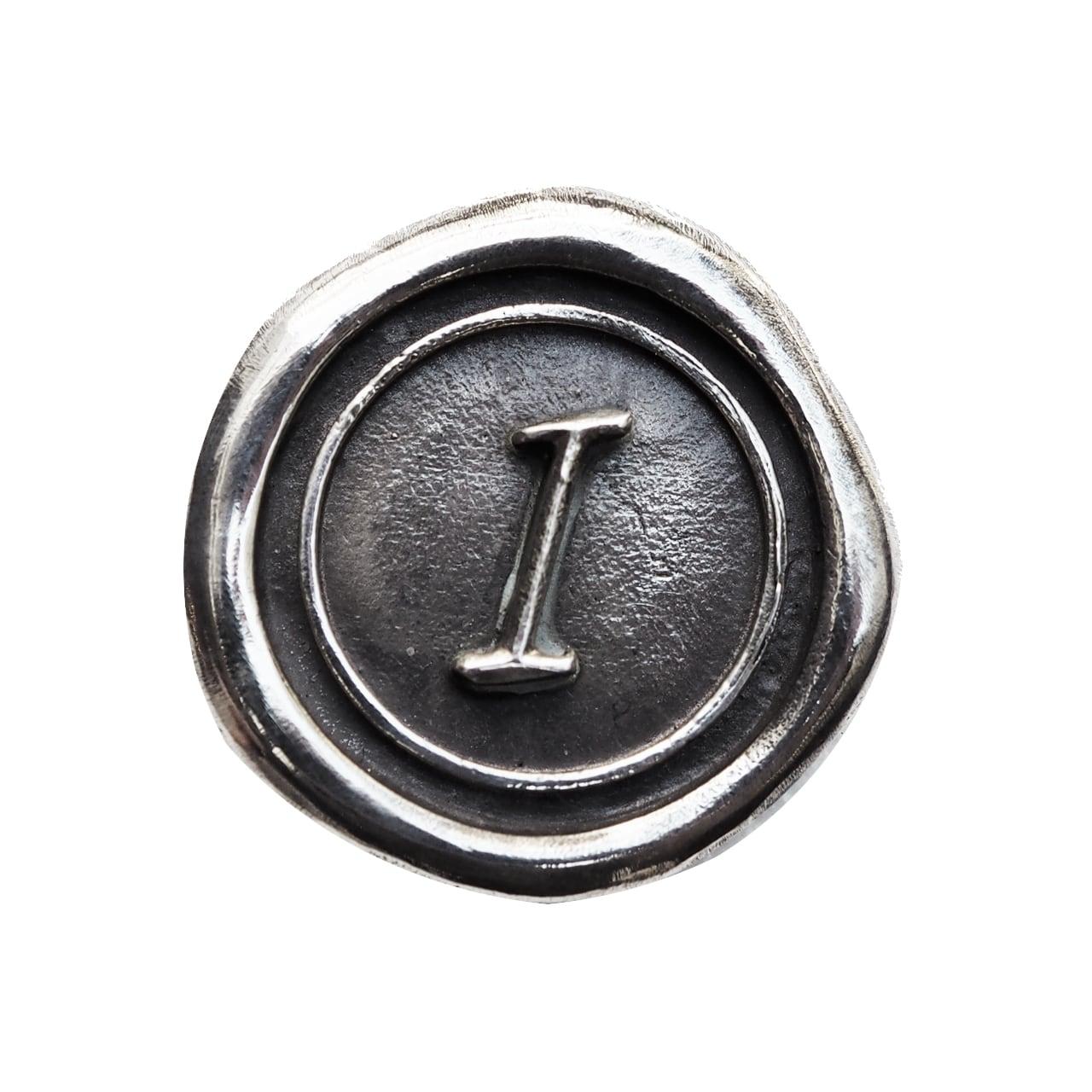 シーリングイニシャル S 〈I〉 シルバー / コンチョボタン