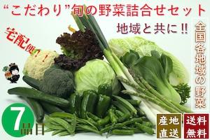 こだわり旬の野菜詰合せセット【7種類】宅配サービス【送料無料】