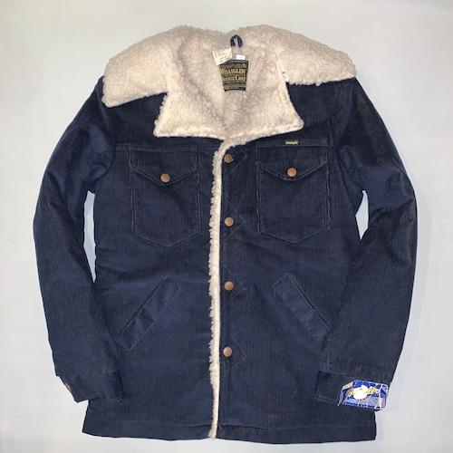 Wrangler Wrange coat ランチコートJL557NV / Corduroy  / Navy S-l  70-80's Dead stock  #102
