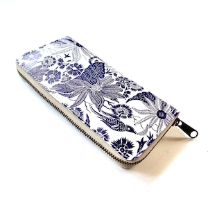 【ハシモト産業 x pink india】北欧デザイン 牛革ラウンド財布   paradise blue