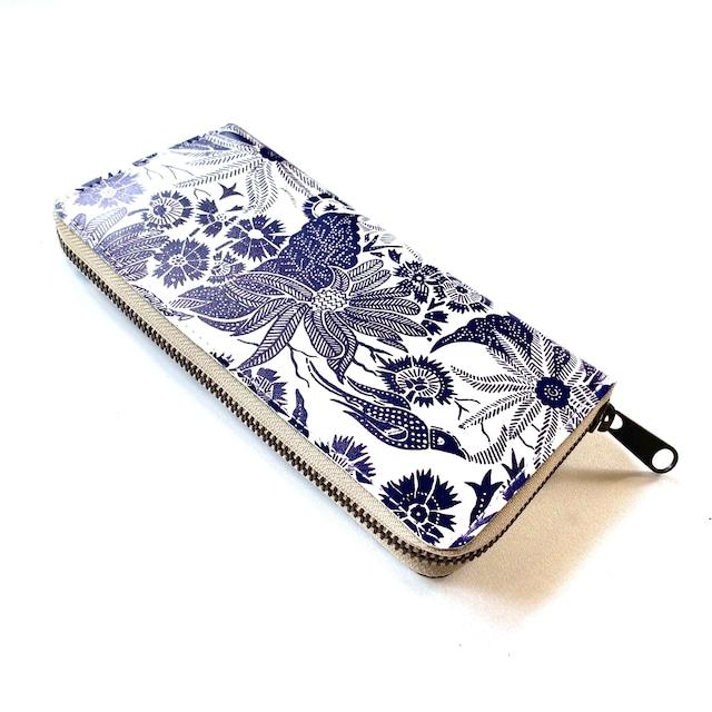 【ハシモト産業 x pink india】北欧デザイン 牛革ラウンド財布 | paradise blue