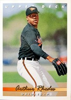MLBカード 93UPPERDECK Arthur Rhodes #384 ORIOLES