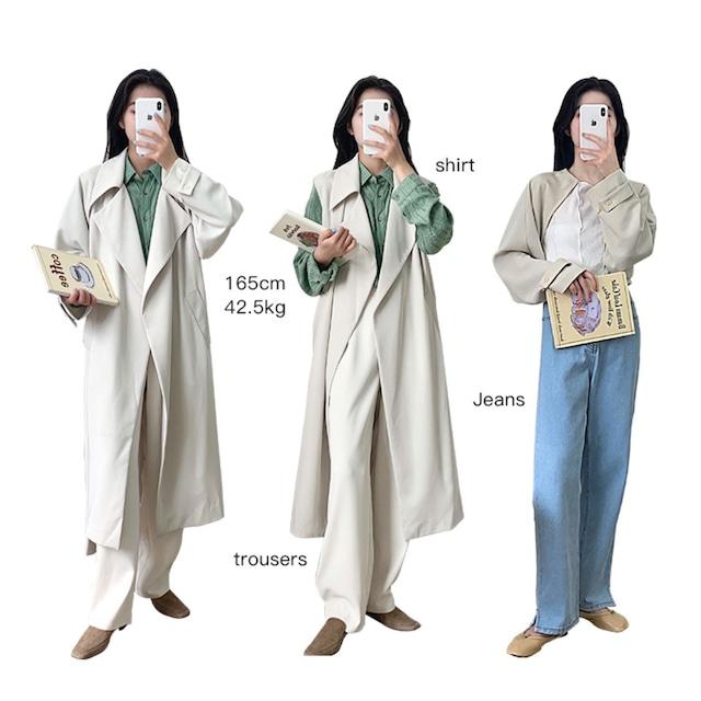 【即納】3-way jacket / ボレロ/ベスト ( ライトベージュ ) LE202209
