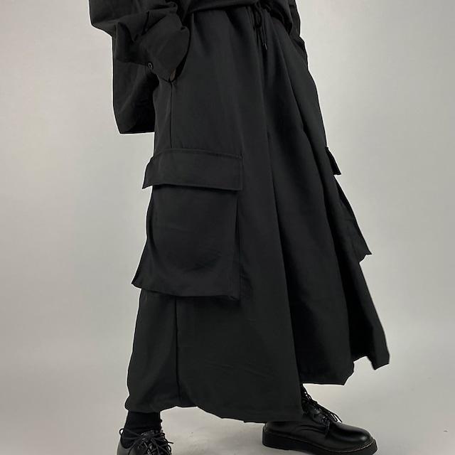 ブラックオーバーワイドパンツ / HWG252