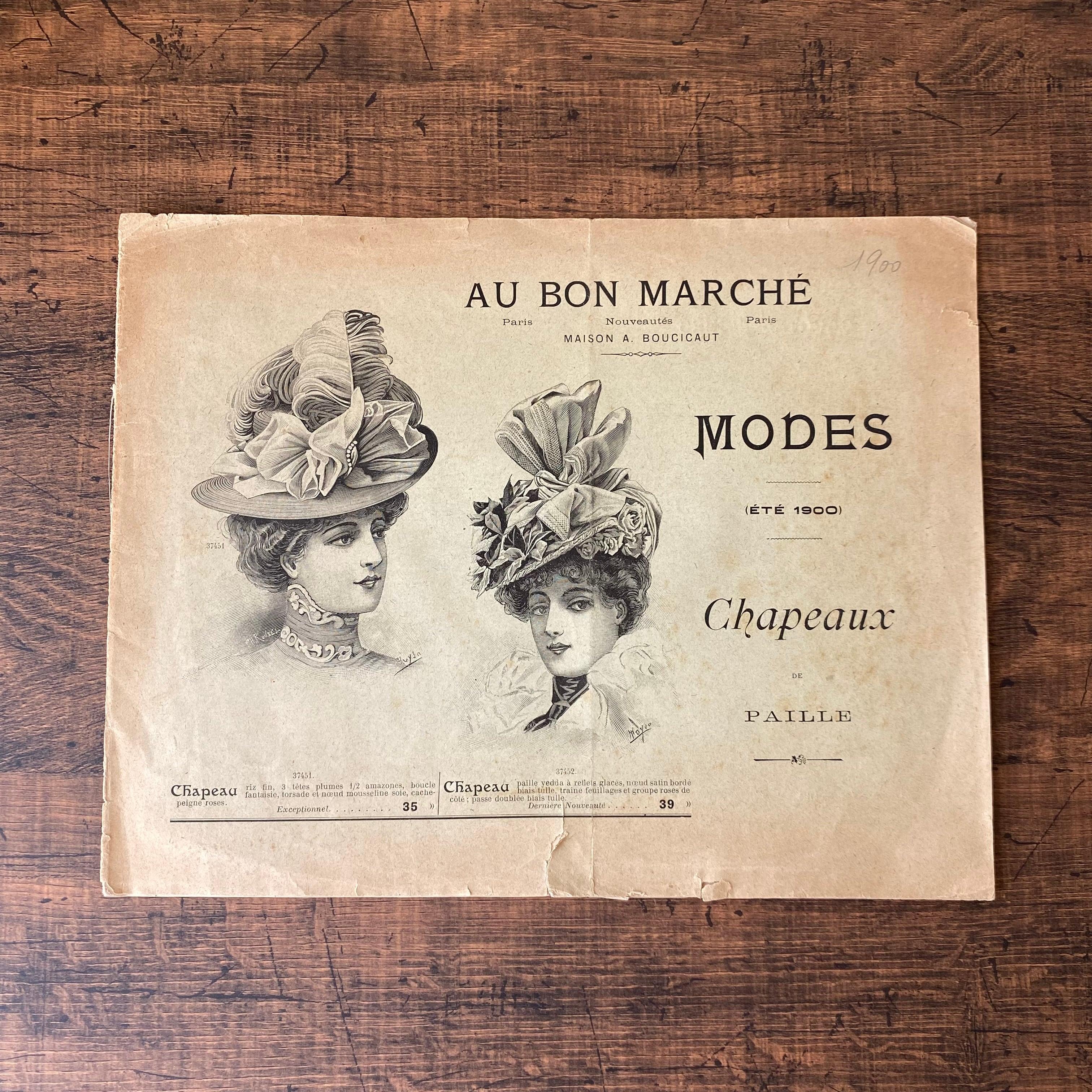 パリの百貨店 Au Bon Marché 帽子カタログ・フランスアンティーク / vp0247