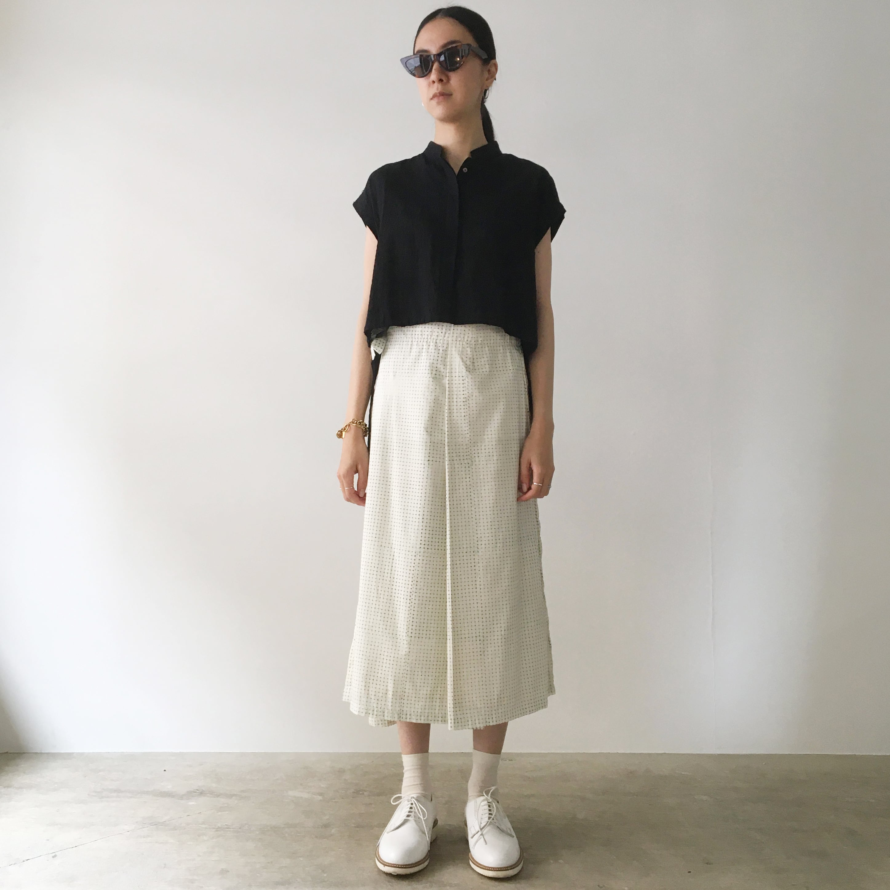 "Wrapped skirt ""block print geometric"" organic cotton"
