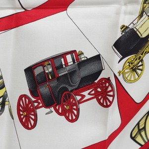 HERMES エルメス カレ 90[螺旋車体]スカーフ レッド シルク アクセサリー