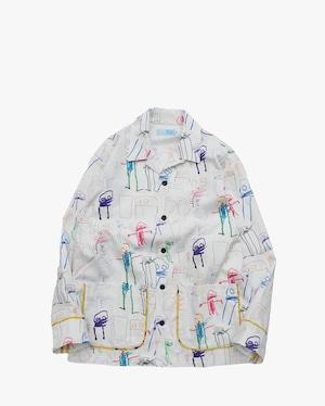 うた × EACHTIME.   Open Collar Shirt