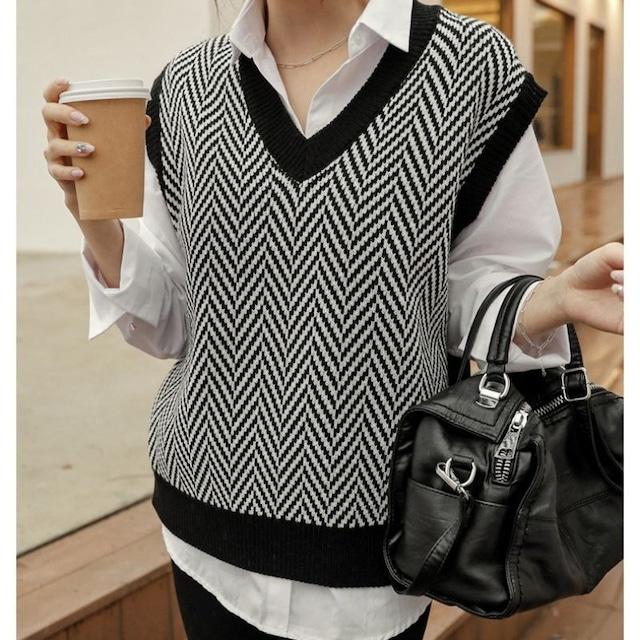 Design knit vest KRE1019