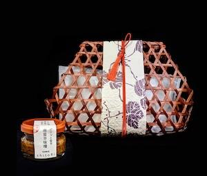 「鴨のロースト 」&「南蛮辛味噌ミニサイズ」の詰め合わせ ※竹かご