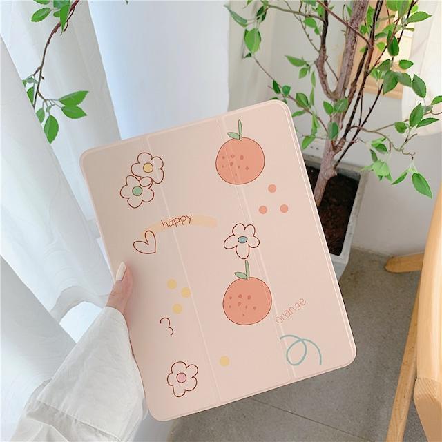 Cute orange iPad case