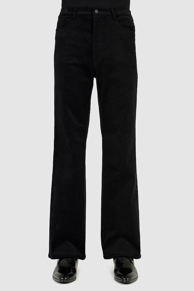 在庫あり LAD MUSICIAN【ラッドミュージシャン】SLIM FLARE PANTS ( 2221-523 BLACK)