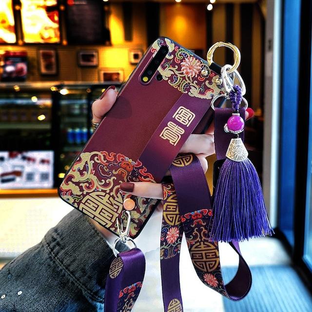 ✿大人気✿【YOUPINシリーズ】★携帯ケース★iPhone 11 11Pro 11ProMax XR X/XS XS Max 7/8 チャイナ風 緑 紫色