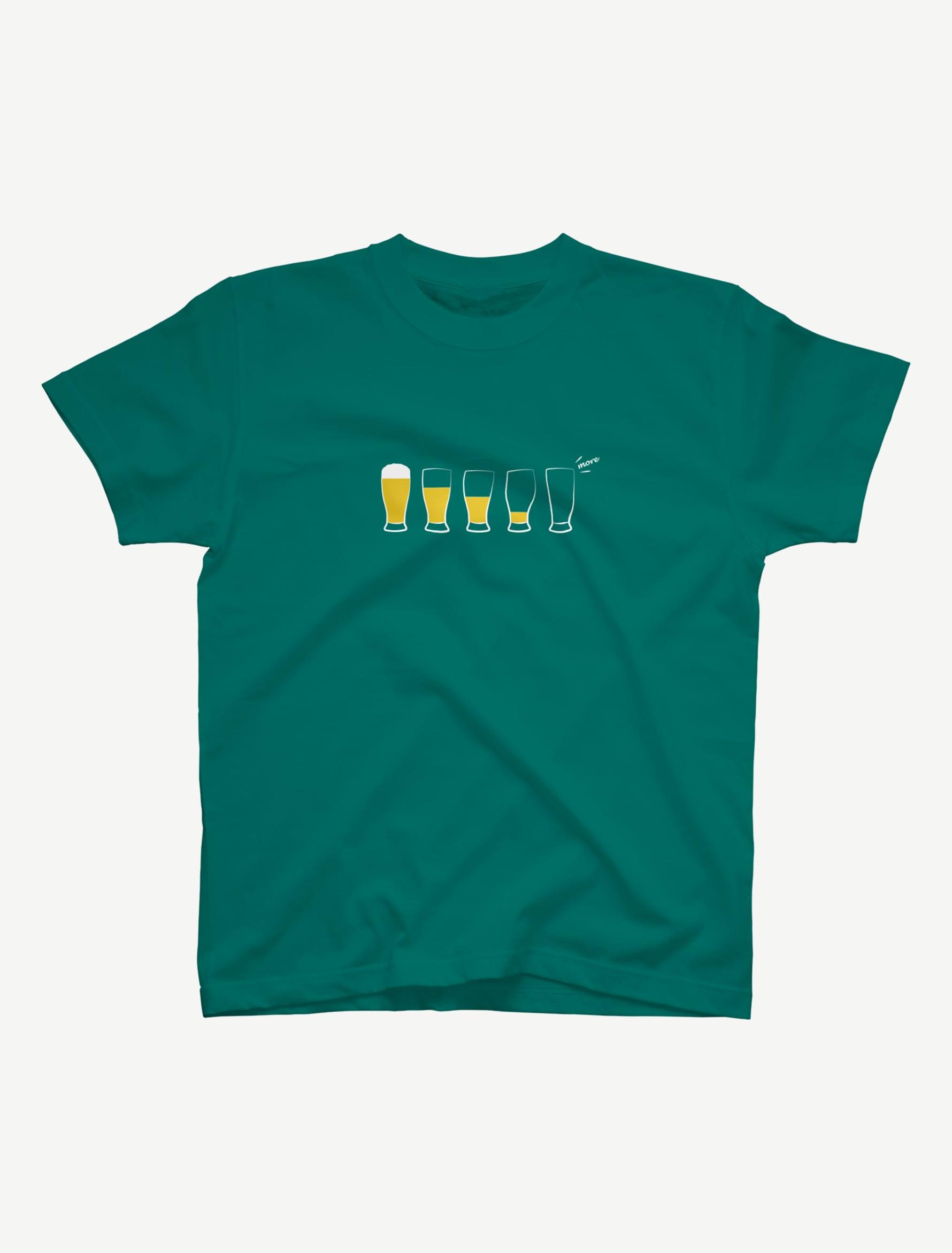 【モア・ビア】Tシャツ(アップルグリーン)