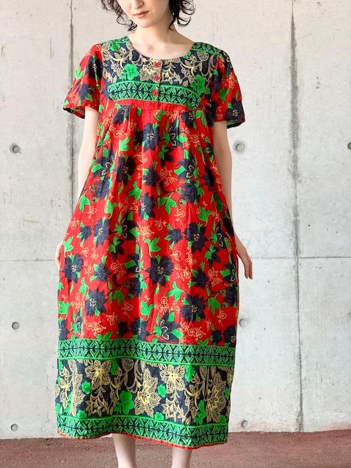 Vintage Floral Hawaian Dress