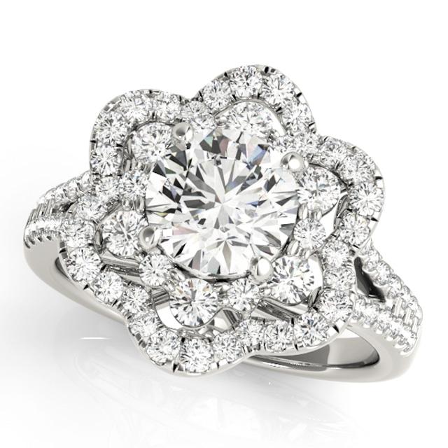 ダイヤモンド リング 空枠 プラチナ製 DEF PREMIUM COLLOECTION ENGAGE RING 1