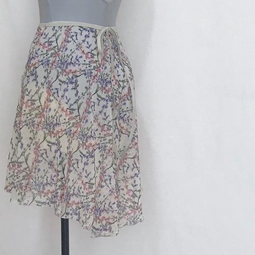 "◇""Tatiana"" Ballet Wrap Skirt - Avril・WHITE [Sheer]( アブリル・白 [シアー])"