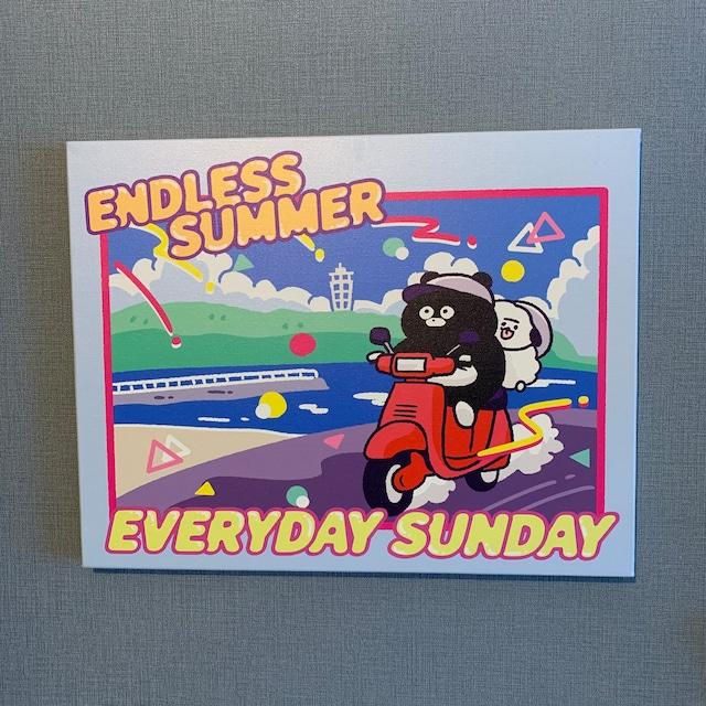 EVERYDAY SUNDAY ENDLESS SUMMER プリントキャンバス