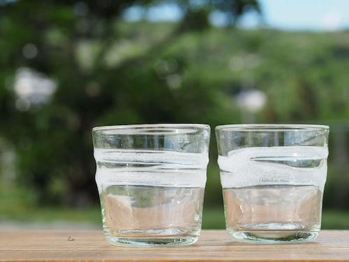 走川(はいかー)ロックグラス 【再生ガラス工房 てとてと】