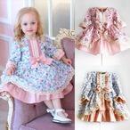 ベビー服 フラワープリンセスドレス S283 FLOWER