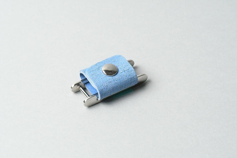 イヤホンコードホルダー □コバルトブルー□ イタリアンレザー earphone cord holder - 画像1
