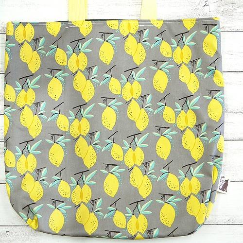 宇海来わたるさん専用【Kuu工房】レモンのエコバッグ/バッグ