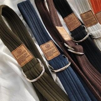 Canvas buckle belt   a-363