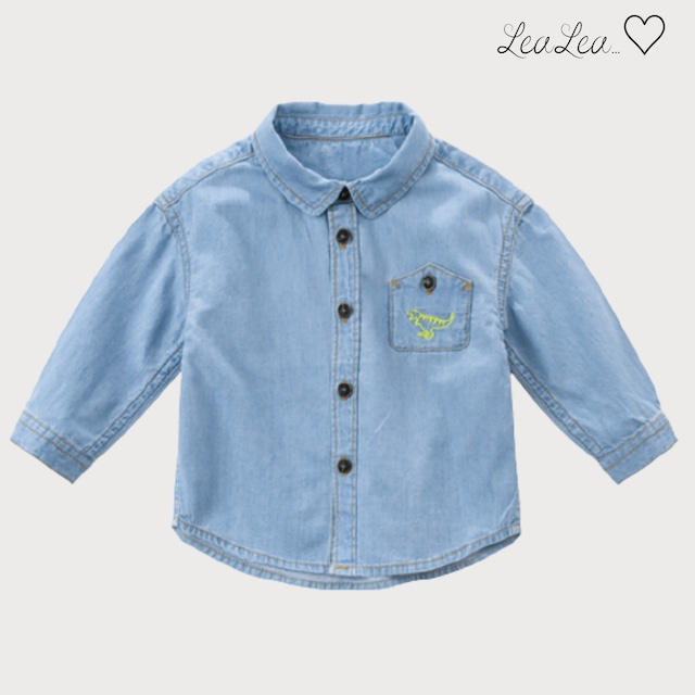 dave&bella2021AW新作♡デニムシャツ(73cm-140cm)| LeaLea...♡(レアレア)-海外の子供服セレクトショップ