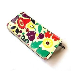 【ハシモト産業 x pink india】北欧デザイン 牛革ラウンド財布 | tulip