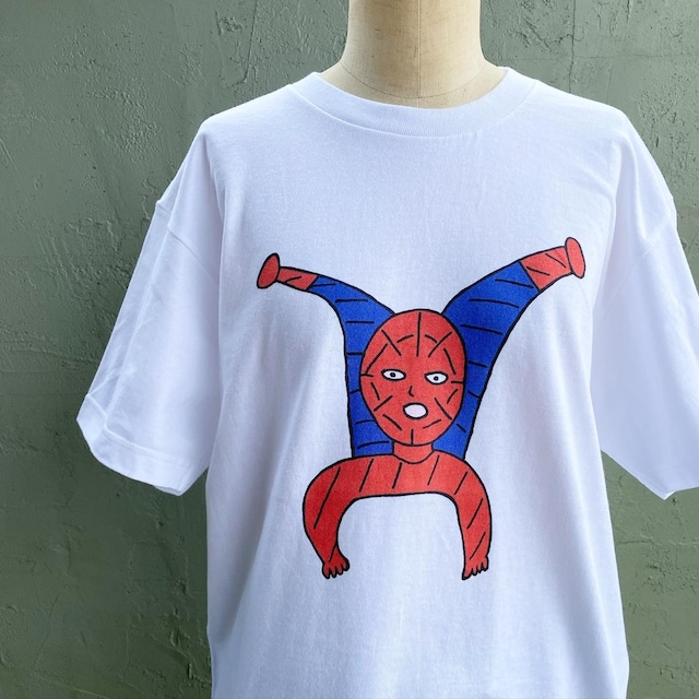 【巨匠動物園】赤と青の人Tシャツ