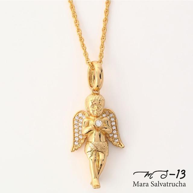【MS-13】K18GP エンジェル チャーム M チェーンセット(ゴールド)
