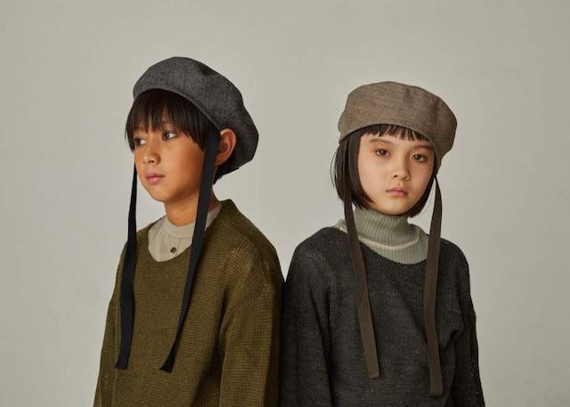 【21AW】GRIS ( グリ )Beret[S/M]Beige  Black 帽子 ベレー帽