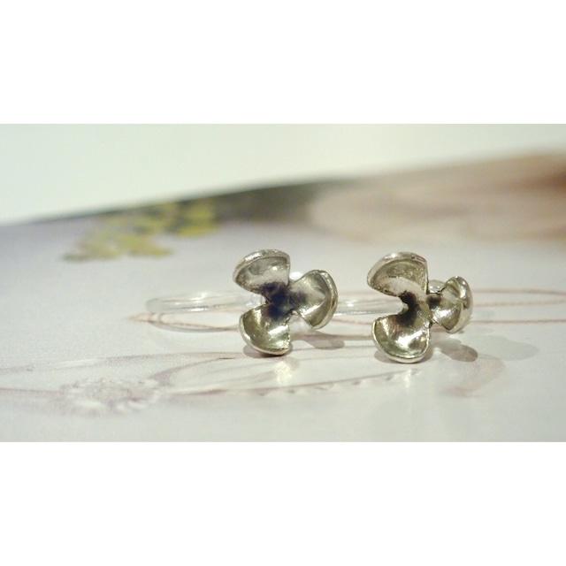 Pop Silver Clip-on Earrings