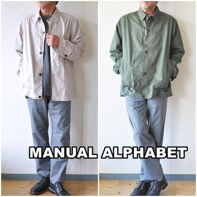 MANUAL ALPHABET マニュアルアルファベット  MA-J-246  HIGH COUNT TWILL SHIRTS JACKET  タイプライター  シャツジャケット