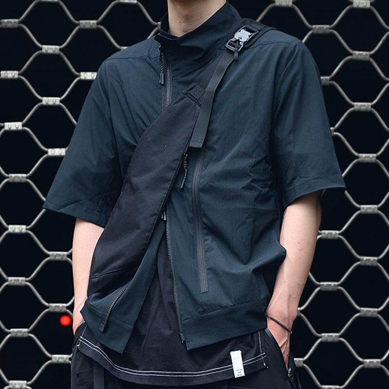 nosucism 20SS 斜めファスナーカットアウトブリーズシャツジャケット