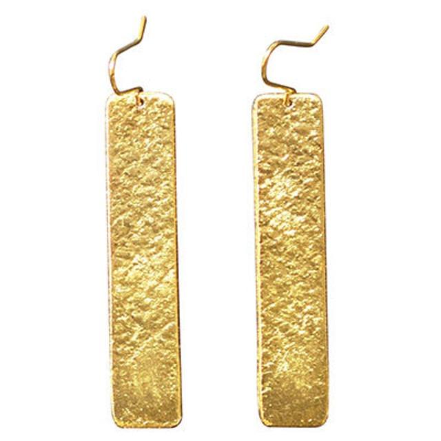 《ピアス》TIN BREATH Pierced earring H 10×50mm Gold