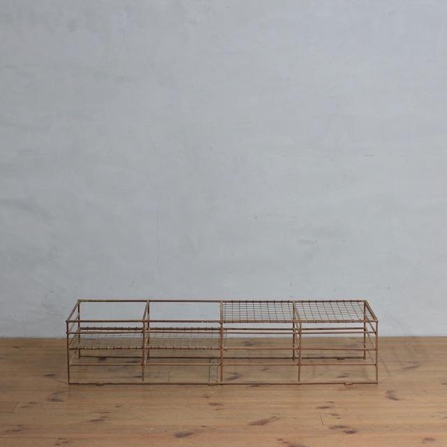 School Shose Rack / スクール シューズ ラック【A】 〈靴箱・下駄箱・店舗什器・アンティーク・ヴィンテージ〉10102