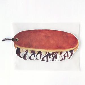 コッペパンカード チョコバナナクリーム パン袋(封筒)つき